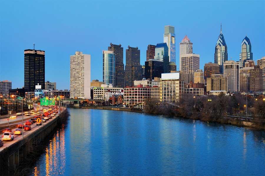 Anfahrt Philadelphia