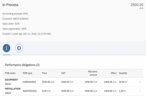 Show Revenue Accounting contract details