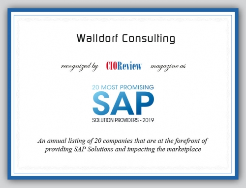 Walldorf Consulting is one of the 20 most promising SAP Solution Providers